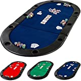 Deluxe faltbare Pokerauflage inkl. Tasche, L 208 x B 106 x H...