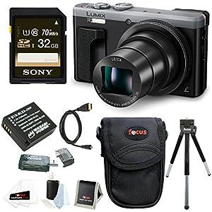 Panasonic Lumix DMC-ZS60 Digital Camera (Silver) w/ 32GB SD Card & Battery Pack Bundle