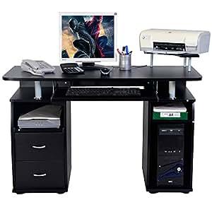 tangkula computer desk work station office. Black Bedroom Furniture Sets. Home Design Ideas