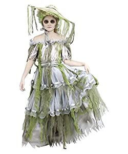 Child Zombie Southern Belle Ghost Bride Costume, Medium