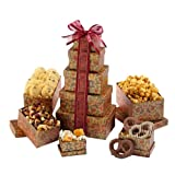Broadway Basketeers Gourmet Gift Tower of Sweets (small)