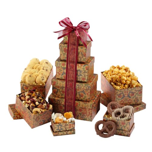 Broadway Basketeers Gift Tower of Sweets, Gourmet