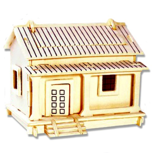 3-D Wooden Puzzle - Small Wafuutaku Building -Affordable Gift for your Little One! Item #DCHI-WPZ-PH002