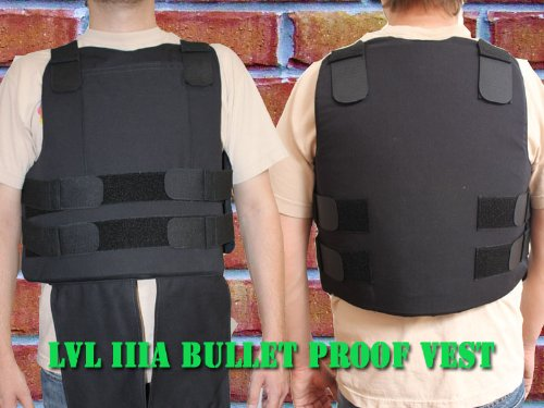 Bulletproof Vest , civilian Body Armor Vest Level IIIa (Size Large)