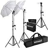 Neewer 600W 5500K Photo Studio Day Light Umbrella Continuous Lighting Kit for Product,Portrait and Video Shoot Photography