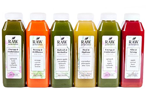 SKINNY CLEANSE by Raw Generation - 5-Day Juice cleanse to slim down and lose weight in a heathy way - FREE SHIPPING on all orders - Easy to GRAB & GO - Cold Pressed Juice (5 Day Cleanse) (Raw Pressed Juice compare prices)