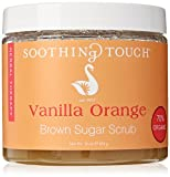 Soothing Touch Brown Sugar Scrub, Vanilla Orange, 16 Ounce