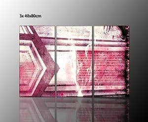 Abstraktes wandbild in rot t nen schlichte dekoration f r for Dekoration wohnung amazon