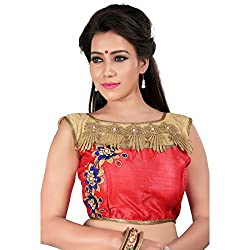 Araja Fashion Gajari Color Hand Work Readymade Designer Saree Blouse