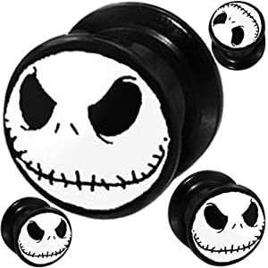 Tunnels Plugs Ear Plugs Nightmare Before Christmas Body jewelry Plugs ...