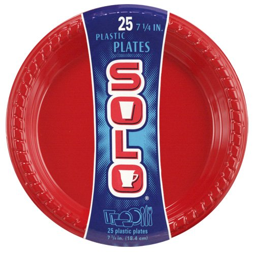 Solo Red 7 1/4-Inch Plastic Plate 25-Count Packages (. CHEAP ...  sc 1 st  Discount PAPER PLASTIC PLATES CUTLERY TO SALE!! SaleBestsellers ... & SOLO | #Discount PAPER PLASTIC PLATES CUTLERY TO SALE!! Sale ...