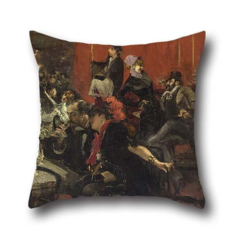 Oil Painting Giovanni Boldini - Feast Scene Throw Pillow Covers 16 X 16 Inch / 40 By 40 Cm Best Choice For Club,bench,relatives,dining Room,bench,kitchen With 2 Sides