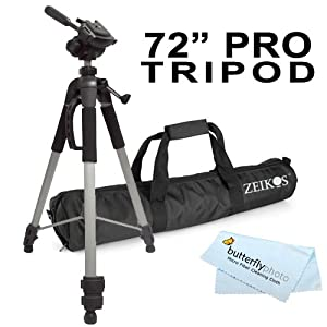 Professional Pro 72&quot; Super Strong Tripod With Deluxe Soft Carrying Case For The Nikon D5200 D3200 D3x D3s D700 D300s D7000 D90 D5100 D5000 D3100 D3000 D800 D800e D600 D7100 Digital Slr Camera Digital Camera + Bp Microfiber Cleaning Cloth
