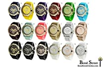 Wholesale Lot of 12 Pcs Geneva Silicone Designer Inspired Watch -9689