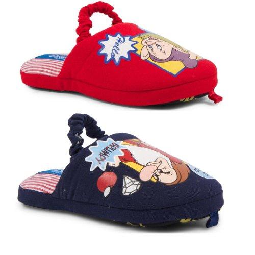 New Kids Official Disney Snow White Seven Dwarves Dopey Grumpy Novelty Slippers