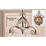 Metal Scroll Wreath Hanger