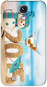 Timpax protective Armor Hard Bumper Back Case Cover. Multicolor printed on 3 Dimensional case with latest & finest graphic design art. Compatible with Samsung I9500 Galaxy S4 Design No : TDZ-24304