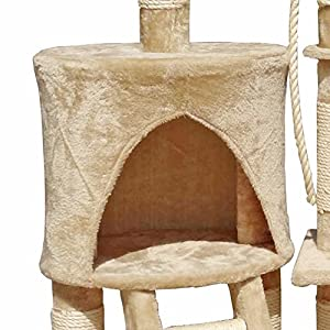 FirstWell Cat Tree Tower Condo Furniture Scratching Post House Small Medium Cats Size(by Model) Option, Color Option Available