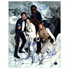 Harrison Ford, Mark Hamill, Carrie Fisher and Peter Mayhew Autographed Star Wars: Empire Strikes Back Snow Photo: 16x20