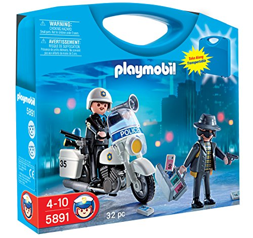 PLAYMOBIL Police Carrying Case Playset