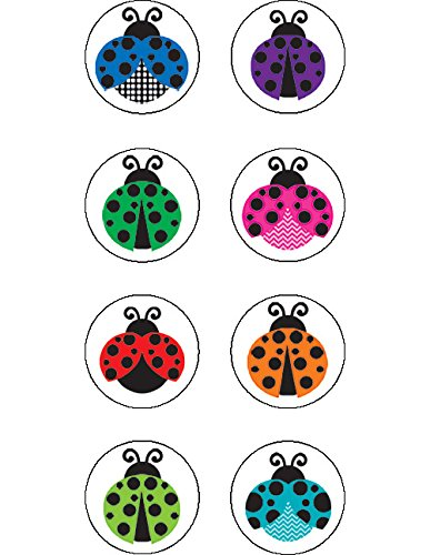Teacher Created Resources Colorful Ladybugs Mini Stickers (5604)