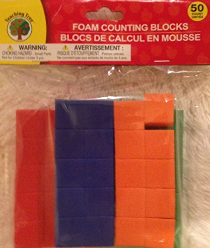50 Foam Counting Blocks - 1