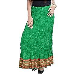 SHREEMANGALAMMART Rajasthani Green Exclusive Cotton Skirt(Parrot Green)(SMSKT527)