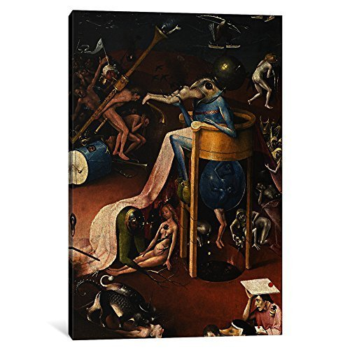 iCanvasART 1 Piece Bird Man from The Garden of Earthly Delights 1500 Canvas Print by Hieronymus Bosch, 0.75 x 8 x 12-Inch by iCanvasART