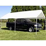 King Canopy Universal Canopy - 10 by 20 -Feet, 6 Leg, White