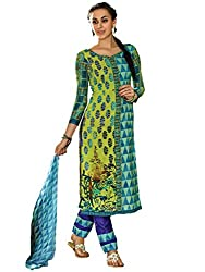 Inddus Multi Printed Cotton Salwar Kameez