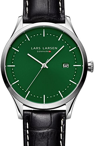 Lars Larsen 119SBBL - Reloj unisex, correa de cuero color negro