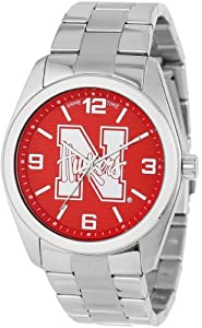 Game Time Unisex COL-ELI-NEB Elite University of Nebraska 3-Hand Analog Watch by Game Time