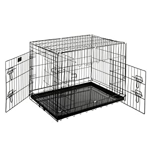 Pet Trex Premium Quality 30″ Folding Pet Crate Kennel Wire Cage for Dogs Cats or Rabbits