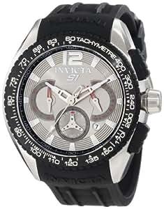 Invicta Men's 1850 S1 Chronograph Grey Dial Black Polyurethane Watch