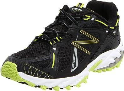 New Balance Women's WT610 Trail Running Shoe,Black/Green,5 D US