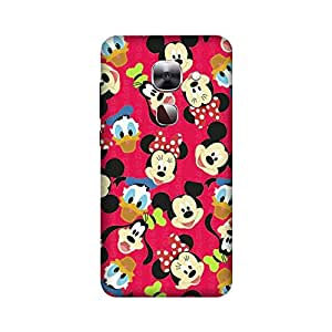 LeEco LE 2 Perfect fit Matte finishing Vintage Pattern Mobile Backcover designed by Aaranis (Multicolor) Perfect fit Matte finishing Mickey Mouse Pattern Mobile Backcover designed by Aaranis (Pink)