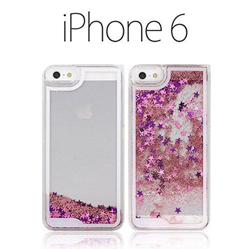 iPhone6 ケース (4.7インチ) スターグリッターケース ピンク docomo au softbank ドコモ エーユー ソフトバンク アイフォン 6 スマホ カバー スマホケース スマートフォン