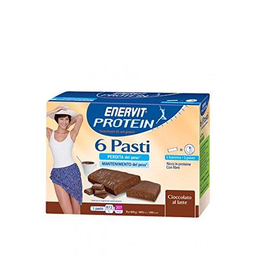 Enervit protéines 6 repas au chocolat au lait 46g Bars 6