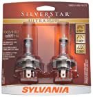 Sylvania 9003/HB2/H4 SU SilverStar Ultra Halogen Headlight Bulb (Low/High Beam), (Pack of 2)