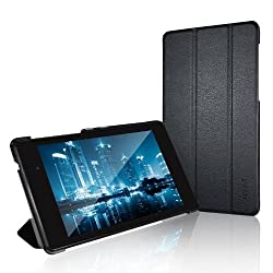 Nexus 7 Case, JETech® Gold Slim-Fit Smart Case Cover for Google Nexus 7 2013 Tablet w/Stand and Auto Sleep/Wake Function (Black)