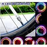 Pellor Waterproof Shockproof 5 LED 7 Mode Cycling Bike Motor Car Tire Spoke Valve Wheel Cap Alarm LED Neon Light Lamp