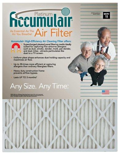 24x28x2 (Actual Size) Accumulair Platinum Filter MERV 11 4-Pack