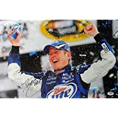 Signed Kurt Busch Picture - 12x18 #w25746 - PSA DNA Certified - Autographed NASCAR... by Sports Memorabilia