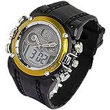 OHSEN カジュアル メンズ スポーツ ウォッチ 腕時計 アナログデジタル表示 防水 タイマー アラーム ストップウォッチ バックライト機能 cos time-2