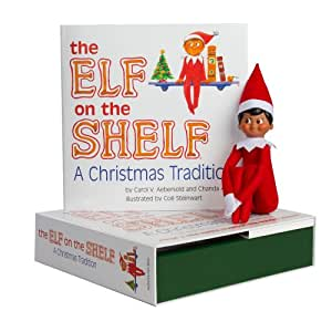 Elf on the Shelf:A Christmas Tradition (brown-eyed boy scout elf)