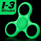 #2: Discount Retail Fidget Spinner Tri-Spinner with 608 Hybrid Bearing Shakes Toy Plastic EDC Sensory Fidget Spinner For Autism And Children With ADHD / Adult Funny Anti StressToys (Luminous)
