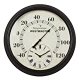 Luster Leaf Lincoln 20057 Thermometer with Clock