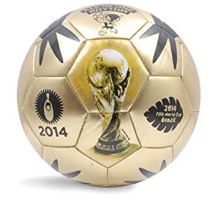 Buy World Cup Soccer Event 2014 Ball, Size 5, Gold by FIFA