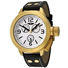 buy I By Invicta Men'S 70113-001 18K Gold-Plated Black Leather Watch