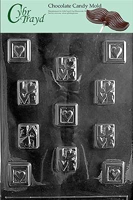 Cybrtrayd V008 Love Squares Valentine Chocolate Candy Mold